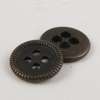 15mm Brass Metal 4 Hole Suit Button