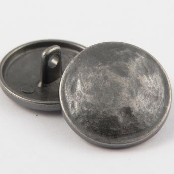 15mm Battered Pewter Metal Shank Upholstery Button