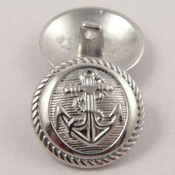20mm Silver Anchor Metal Shank Suit Button