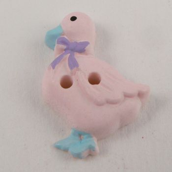 25mm Pink Duck 2 Hole Button