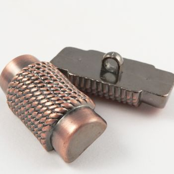 39mm Copper Metallized Toggle Coat Button With A Shank