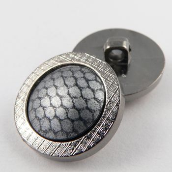 27mm Unusual Slightly Domed Shank Coat Button