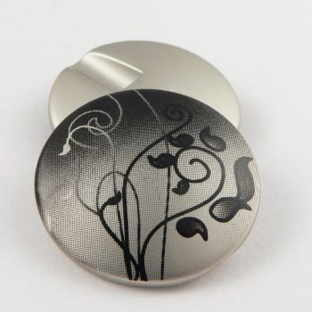 21mm Abstract Floral Shank Sewing Button