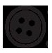 10mm Heart 2 Hole Black Button