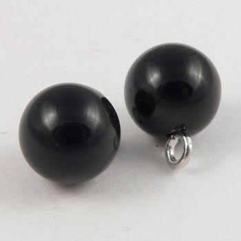 10mm Black Bauble Shank Sewing Button