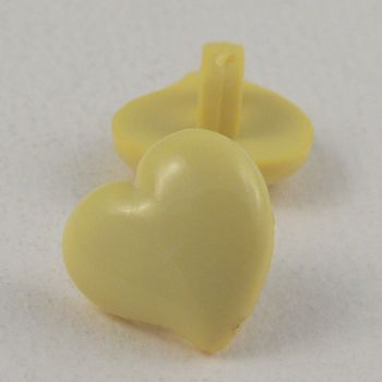 17mm Domed Yellow Heart Shank Button