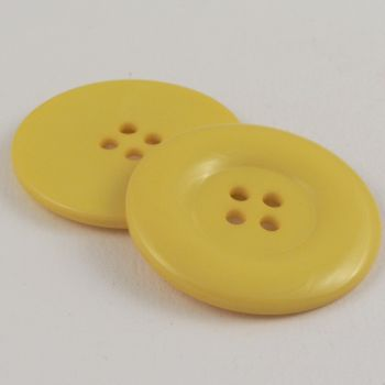38mm Chunky Solid Yellow 4 Hole Sewing Button