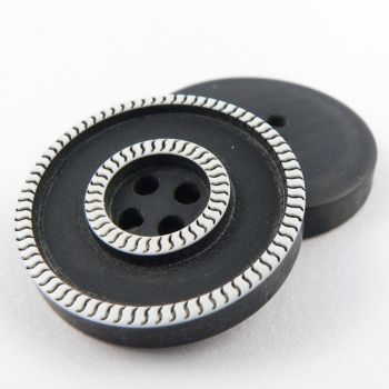 18mm Contemporary Tyre Style 4 Hole Sewing Button