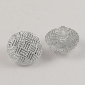10mm Criss-Cross Silver Domed Shank Sewing Button