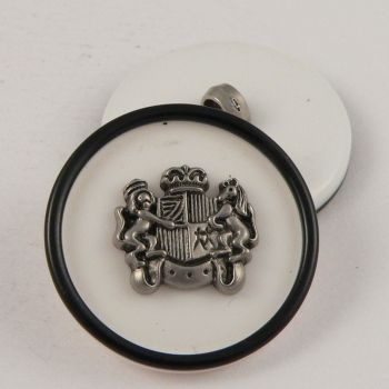 24mm Coat of Arms Sewing Shank Button