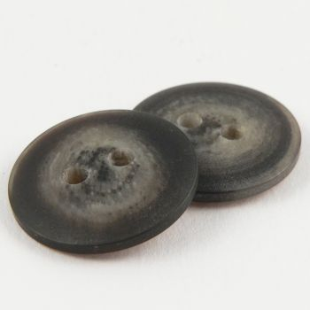 23mm Chocolate Brown Horn Effect Matt 2 Hole Sewing Button