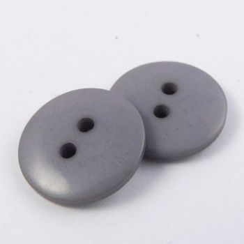 15mm Grey 2 Hole Sewing Button