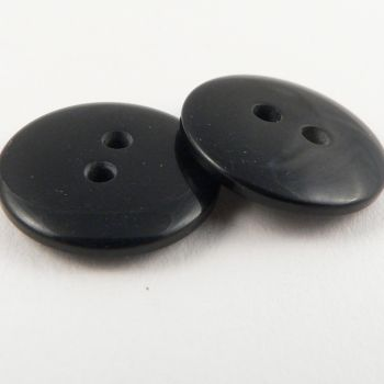 15mm Black Plastic 2 Hole Sewing Button