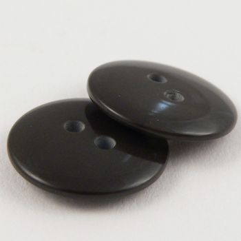 15mm Chocolate Brown Plastic 2 Hole Sewing Button