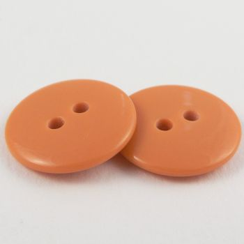15mm Orange Plastic 2 Hole Sewing Button