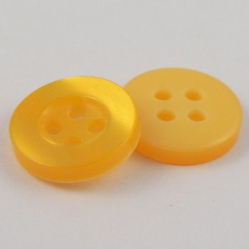 11mm Pearl Yellow 4 Hole Shirt Button