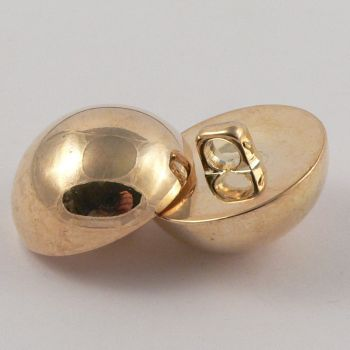 21mm Gold Domed Shank Coat Button