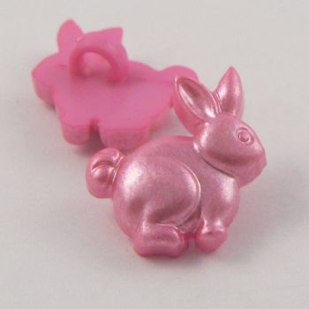18mm Pink Rabbit Shank Buttons