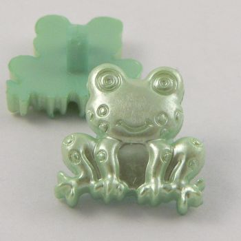 18mm Green Frog Shank Buttons