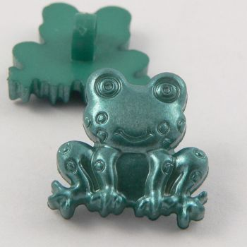 18mm Dark Green Frog Shank Buttons