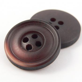 20mm Brown Wood Effect 4 Hole Suit Button