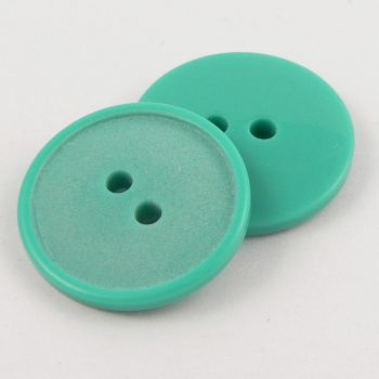 20mm Jade Green Polyester 2 hole Sewing Button