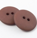 18mm Brown Matt Smartie Style 2 Hole Button
