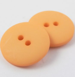 23mm Orange Matt Smartie Style 2 Hole Button