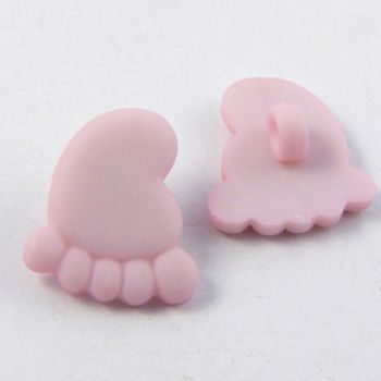 12mm Pink Right Hand Baby Foot Shank Button