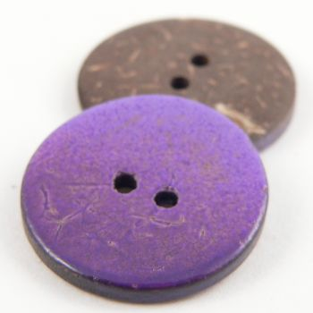 20mm Purple Coconut 2 Hole Button
