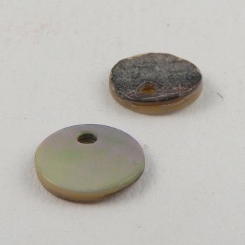 8mm Agoya Round Pearl Shell 1 Hole Button