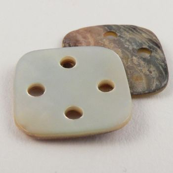 16mm 4-Holed Square Natural Agoya Shell Button
