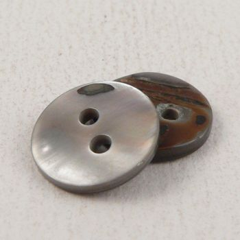 11mm Round Smoke River Shell 2 Hole Button