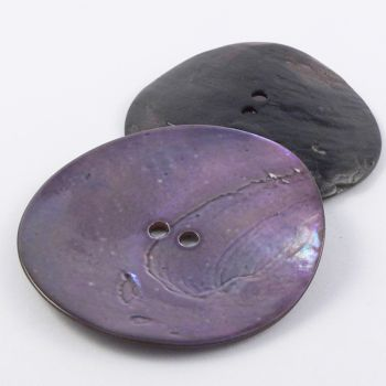 50mm Bluey-Lilac Agoya Shell 2 Hole Button