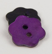 23mm Purple Flower Agoya Shell 2 Hole Button