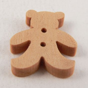 20mm Wooden Childrens Teddy Bear 2 Hole Button
