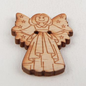 24mm Wooden Angel 2 Hole Button